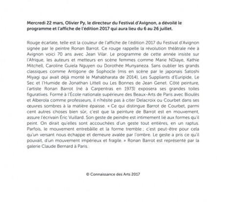 barrot connaissance des arts avignon 2017 bis